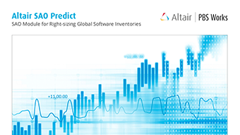 Altair SAO Predict: SAO Module for Right-sizing Global Software Inventories