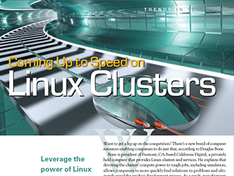 Coming Up to Speed on Linux Clusters