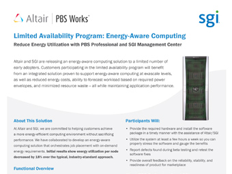 Limited Availability Program for Energy-Efficient Computing Solution