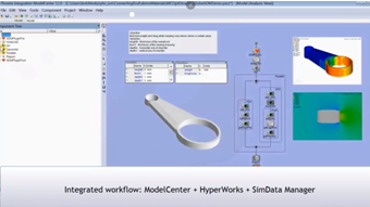 Integrated Workflow: ModelCenter HyperMesh SimData Manager