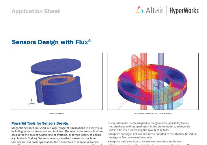 Sensors Design with Flux