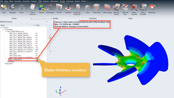Integration CAD/FEA for Optimization/DOE