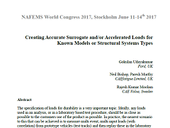 White Paper: Creating Accurate Surrogate and/or Accelerated Loads for Known Models or Structural Systems Types