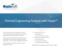 White Paper: Thermal Engineering Analysis with Maple