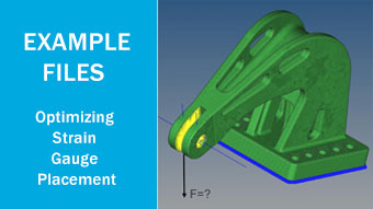 Example files for Optimizing Strain Gauge Placement with LW Finder and HyperMesh