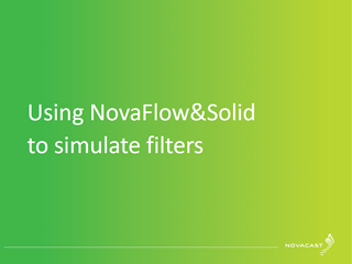 Using NovaFlow&Solid to Simulate Filters