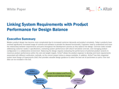 White Paper: Linking System Requirements with Product Performance for Design Balance