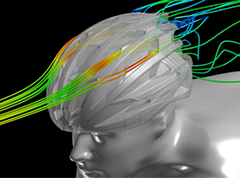 Aerodynamic Development of a Road Cycling Helmet with AcuSolve - LX Sim