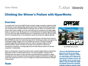Climbing the Winner's Podium with HyperWorks