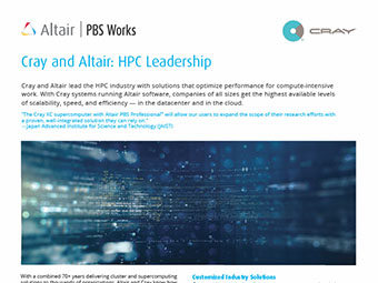 Cray and Altair: HPC Leadership