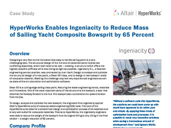 HyperWorks Enables Ingeniacity to Reduce Mass of Sailing Yacht Composite Bowsprit by 65%