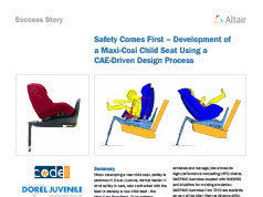 Safety Comes First – Development of a Maxi-Cosi Child Seat Using a CAE-Driven Design Process