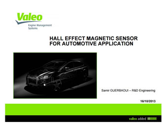 Hall Effect Magnetic Sensors Design for Automotive Application