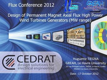 Design of Permanent Magnet Axial Flux High Power Wind Turbines Generators (MW range)
