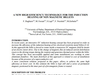A New High Efficiency Technology For The Induction