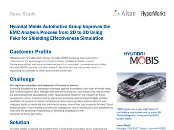 Hyundai Mobis Automotive Group Improves the EMC Analysis Process from 2D to 3D Using FEKO for Shielding Effectiveness Simulation