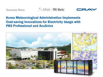 Korea Meteorological Administration Implements Cost-saving Innovations for Electricity Usage with PBS Professional and AcuSolve