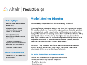 Model Mesher Director Datasheet