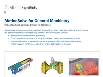 MotionSolve for General Machinery