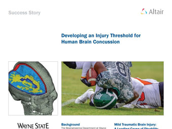 Developing an Injury Threshold for Human Brain Concussion