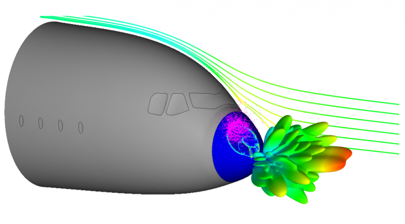 Aircraft Radome Multiphysics Using Simulation
