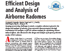 Efficient Design and Analysis of Airborne Radomes
