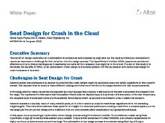 Seat Design for Crash in the Cloud - NAFEMS World Congress 2015