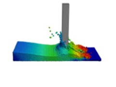 Numerical simulation of liquid sloshing and fluid-structure interaction (FSI) inside closed volumes