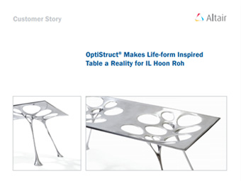 OptiStruct® Makes Life-form Inspired Table a Reality for IL Hoon Roh