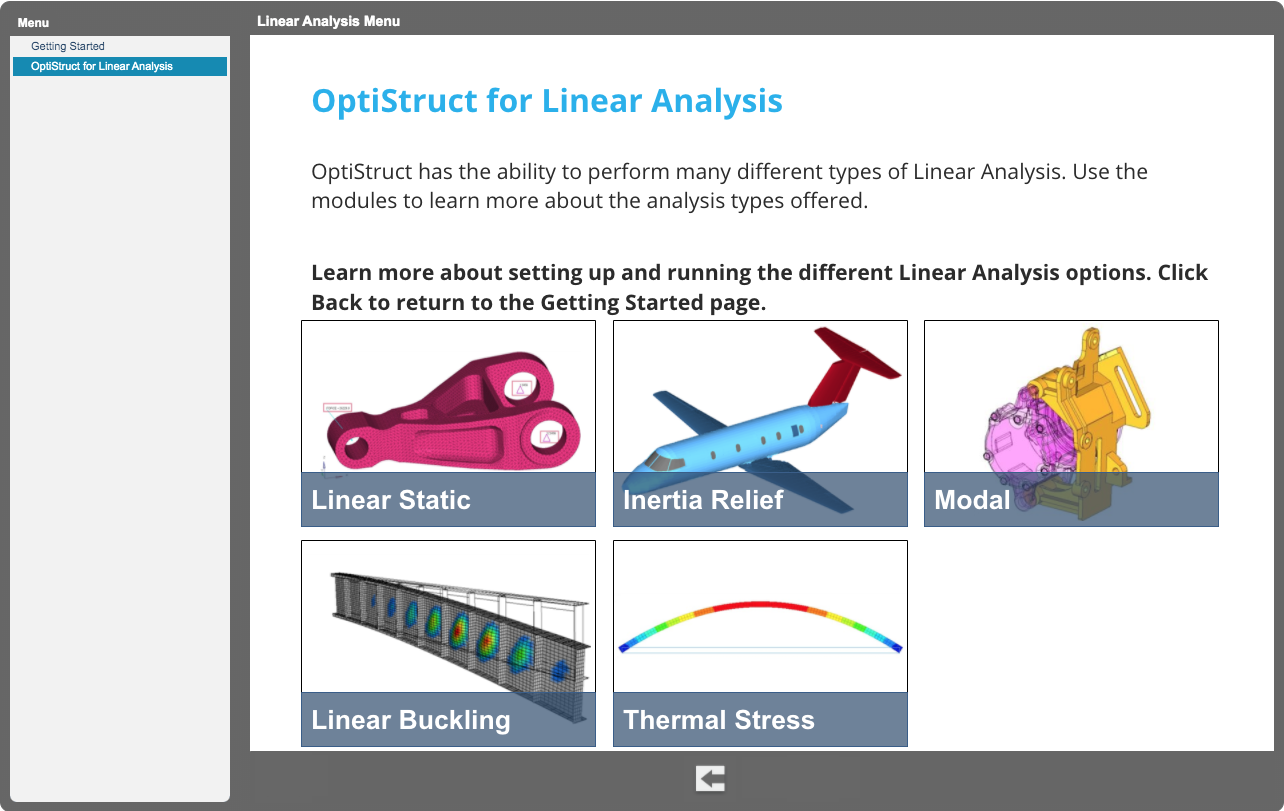 OptiStruct for Linear Analysis v2019