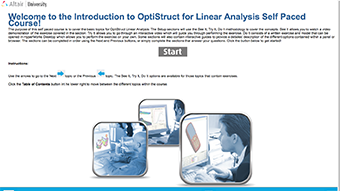OptiStruct for Linear Analysis