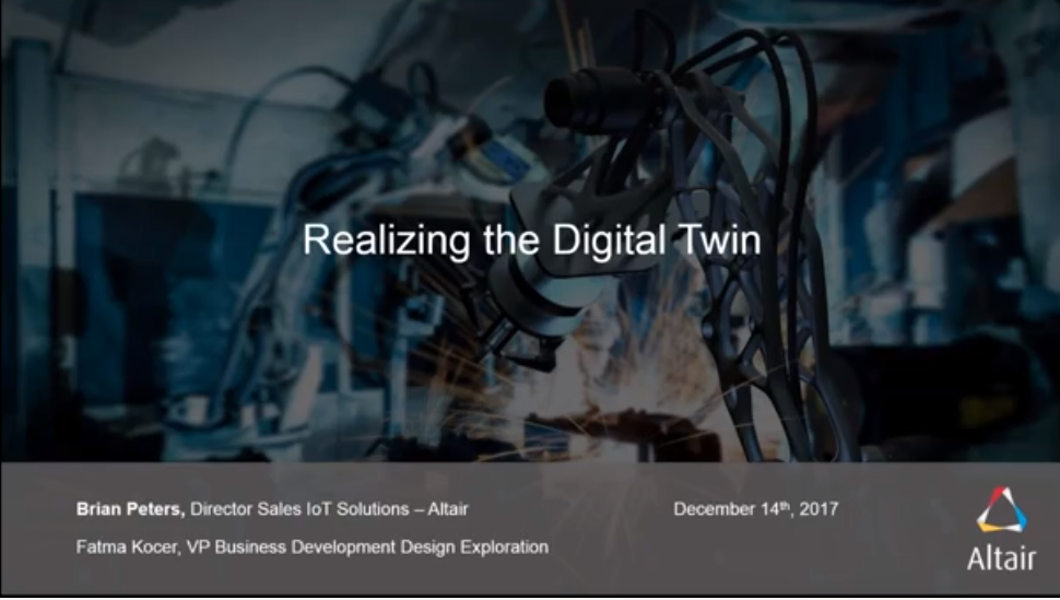 Webinar: The Digital Twin gateway: Simulation in the age of IoT and industry4.0