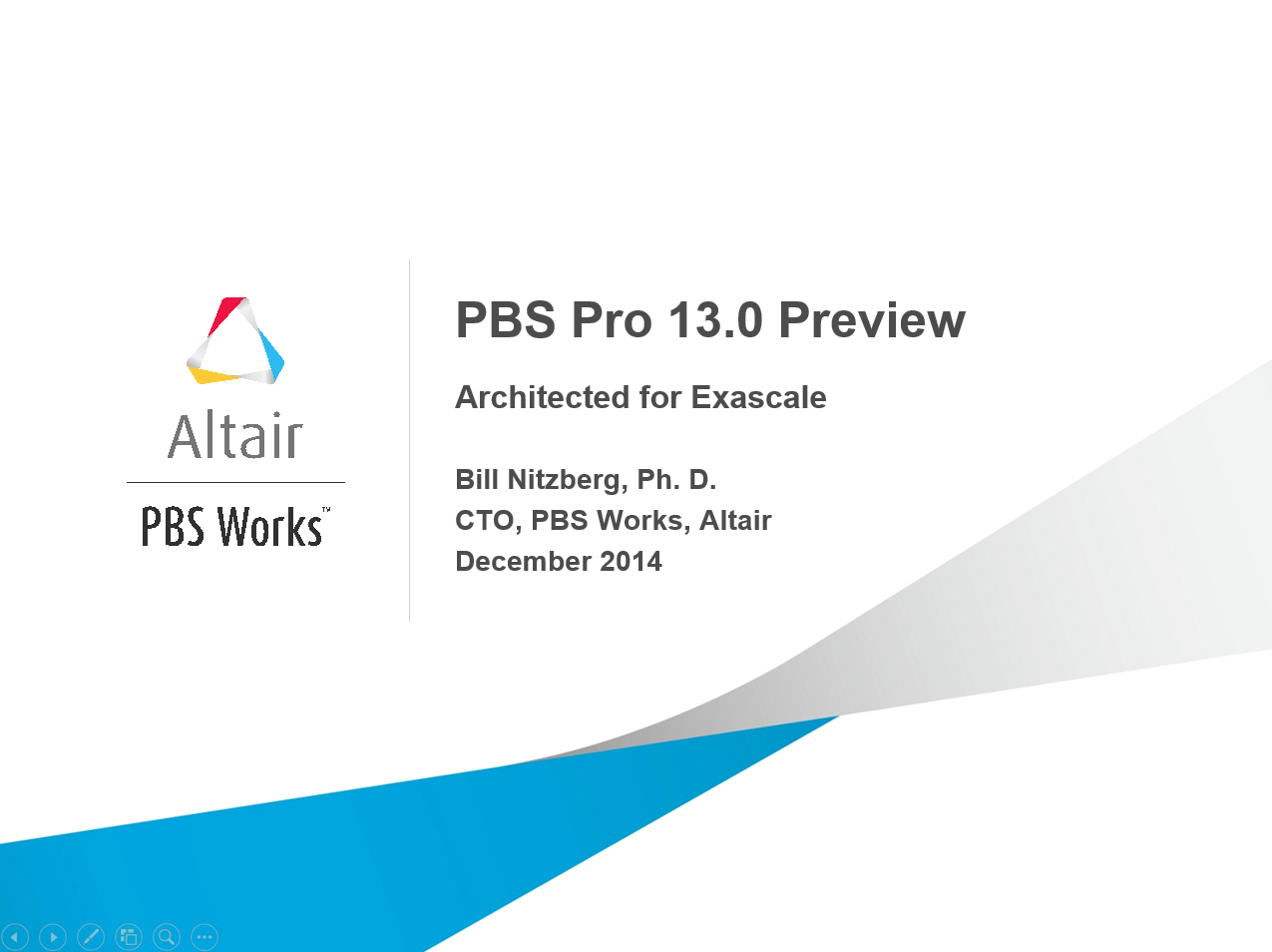 Webinar: Optimize it! PBS Professional 13.0 Preview Webinar