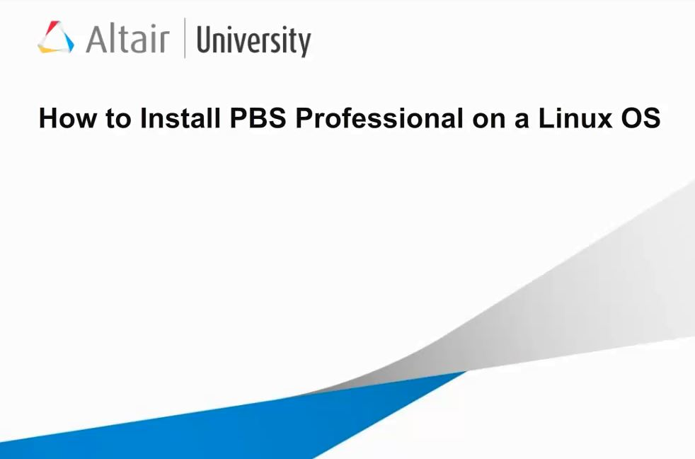 How To: PBS Professional v12.2 Installation