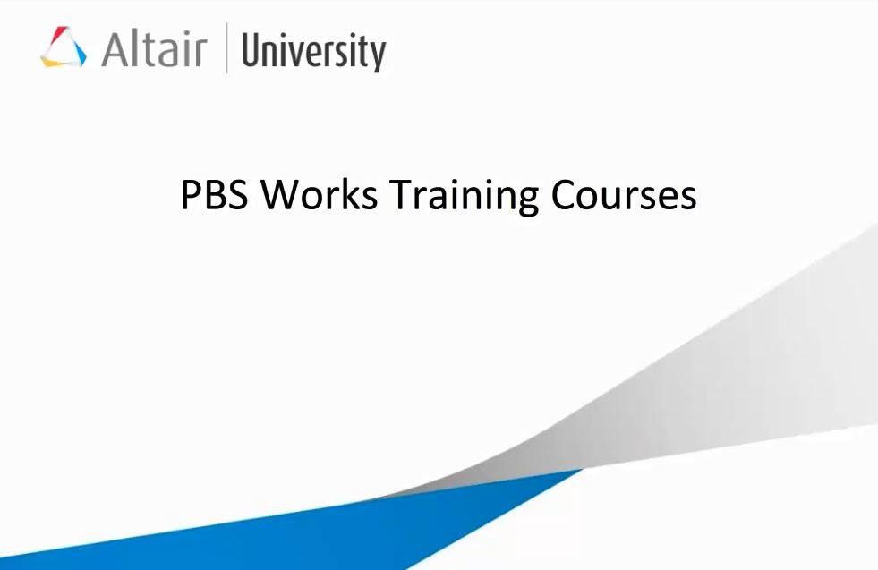 Promotion of the 5 days hands-on PBS Works Training Class
