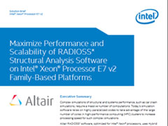 Intel Solution Brief: Maximize Performance and Scalability with RADIOSS on Intel® Xeon®