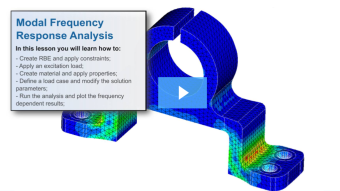 SimLab Tutorials - Modal Frequency Response Analysis - Bracket