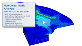 SimLab Tutorials - Non Linear static Analysis_flex plate