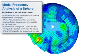 SimLab Tutorials - Modal Frequency Response Analysis of a Sphere