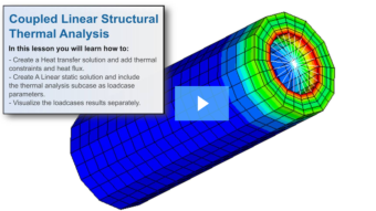 SimLab Tutorials - Coupled Linear Structural Thermal Analysis