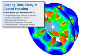 SimLab Tutorials - Transient Heat Transfer Cooling Time Study - Casted Housing