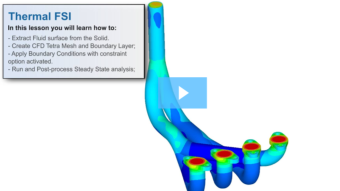 SimLab Tutorials - Thermal FSI of Exhaust Manifold