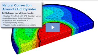 SimLab Tutorials - Natural Convection Around a Hot Cylinder