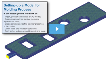 SimLab Tutorials - Setting-up a Model for Molding Process