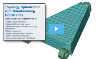 SimLab Tutorials - Topology Optimization with Manufacturing Constraints