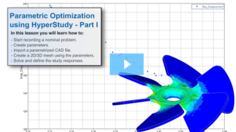 SimLab Tutorials - Parametric Optimization using HyperStudy - Part I