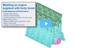 SimLab Tutorials - Meshing with Body Break_Engine Assembly