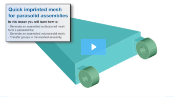 SimLab Tutorials - Quick Imprinted Mesh for Parasolid Assemblies