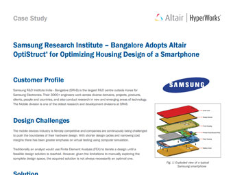Samsung Research Institute – Bangalore Adopts Altair Optistruct® for Optimizing Housing Design of a Smartphone