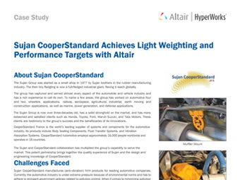 Sujan CooperStandard Achieves Lightweighting and Performance Targets with Altair